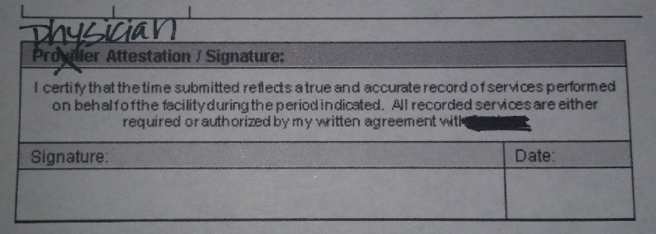 provider crossed out